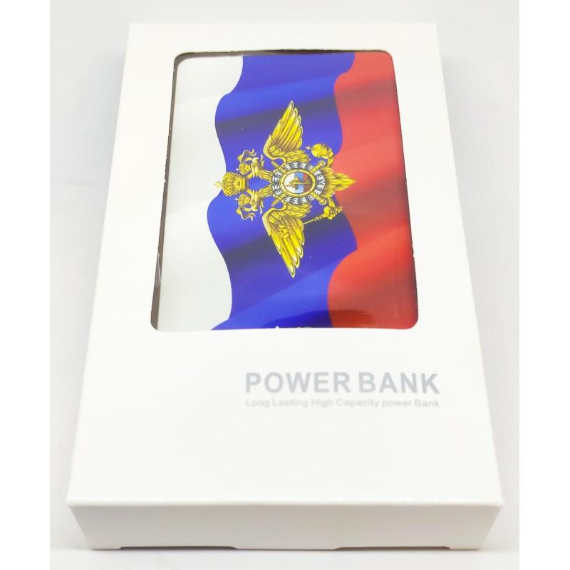Внешний аккумулятор (powerbank) ГЕРБ МВД, 2500 mAh