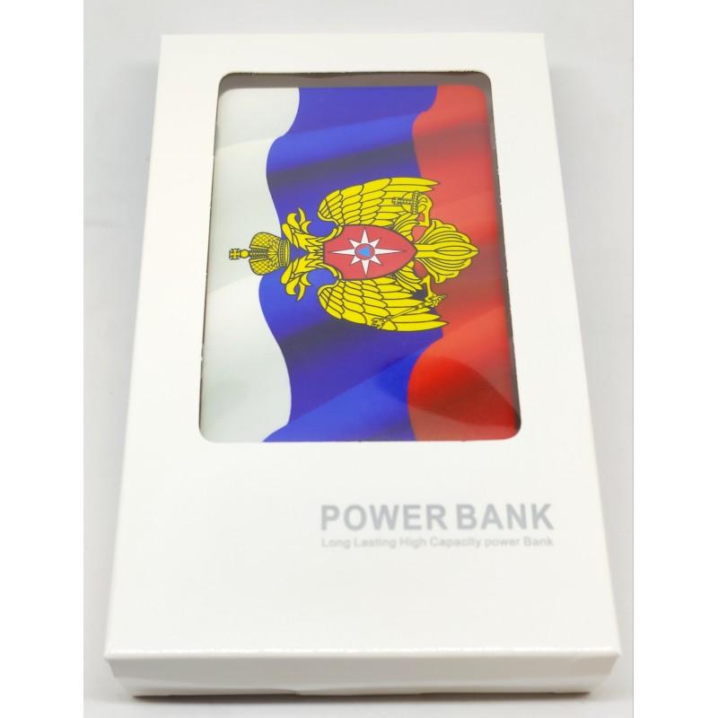 Внешний аккумулятор (powerbank) ГЕРБ МЧС, 2500 mAh