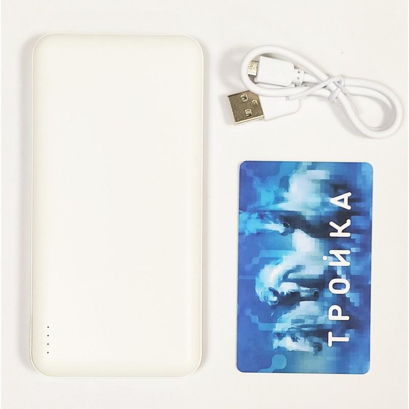 PB-180 10000 mAh пластик белый, Powerbank
