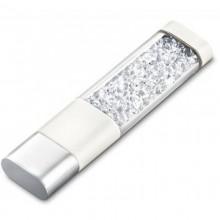 Флешка Crystalline с кристаллами белая
