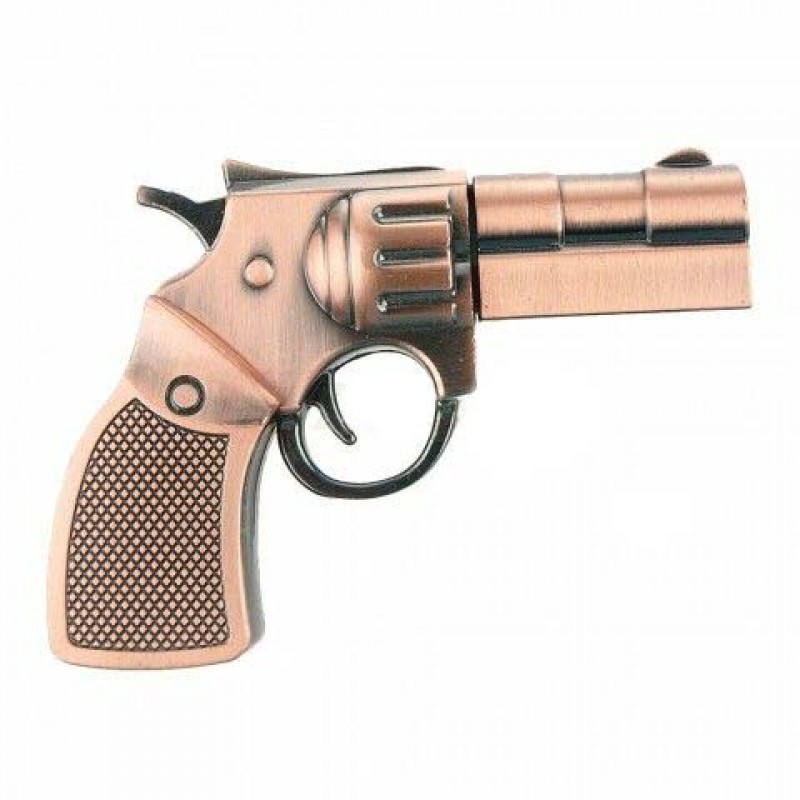 Флешка Револьвер 10290 медь
