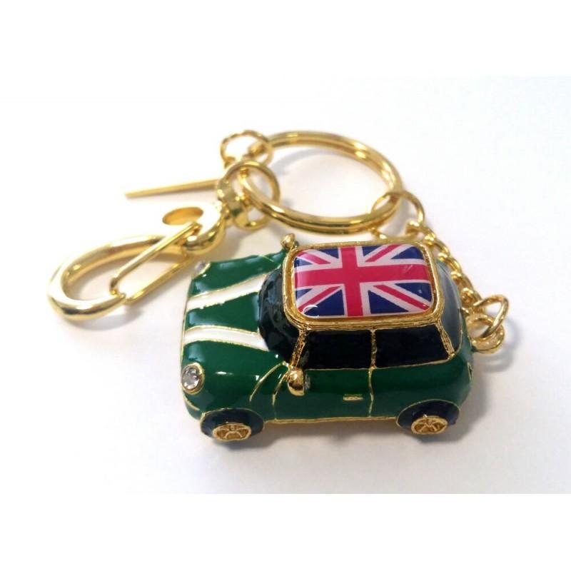 Флешка Автомобиль Мини Купер зеленый с флагом