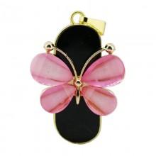 Флешка Подвеска бабочка розовая