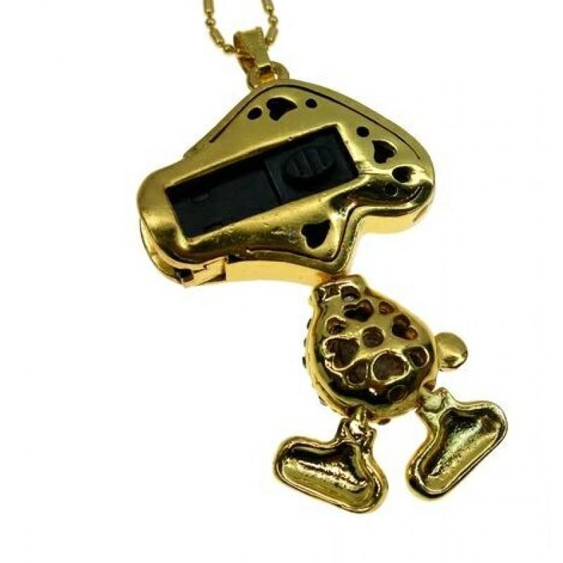 Флешка Собака со стразами золото