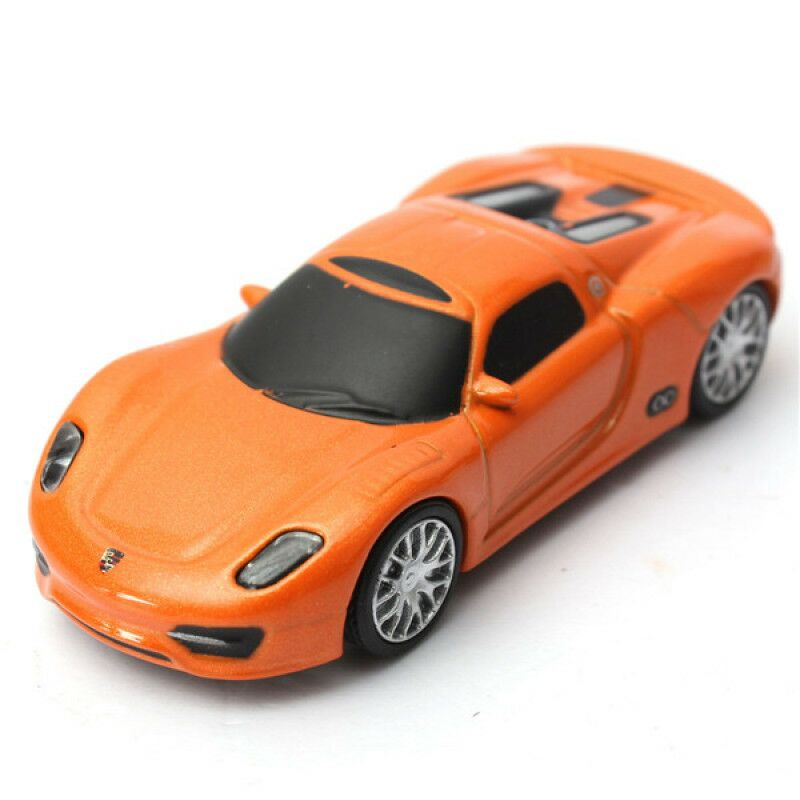 Флешка Автомобиль Porsche оранжевый