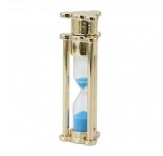 Флешка Песочные часы золото с голубым песком