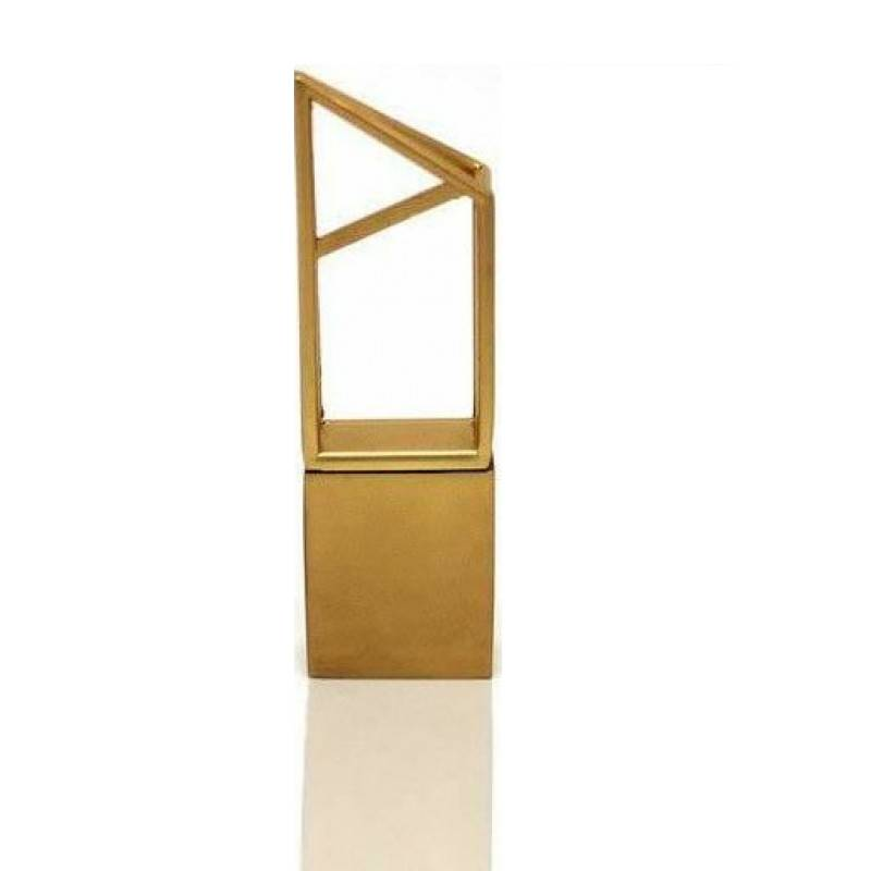 Флешка Геометрия золото
