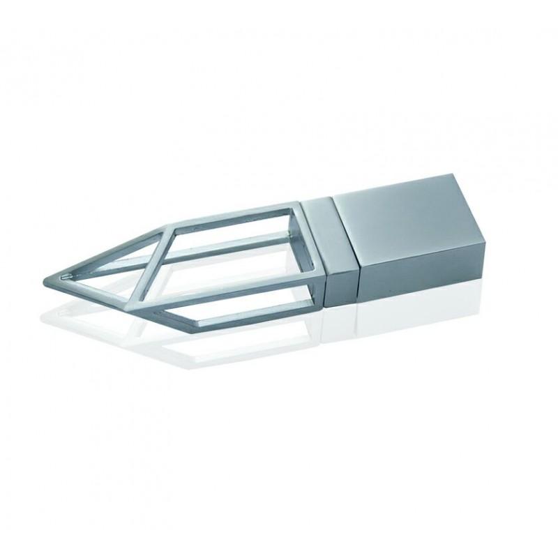 Флешка Геометрия серебро
