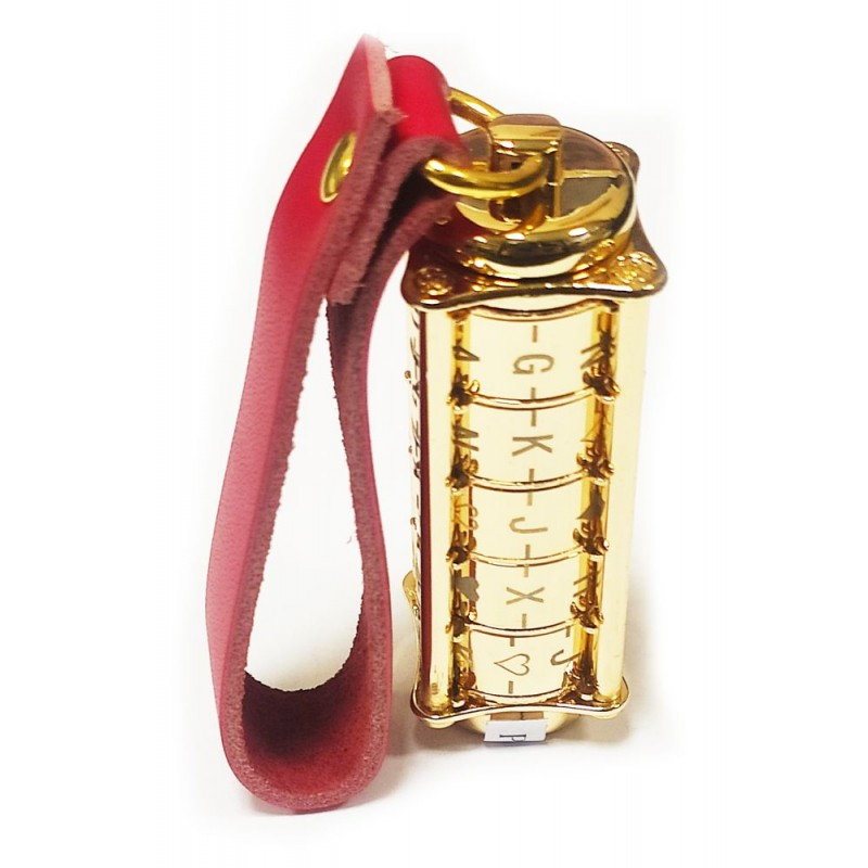 Флешка с 5-значным кодовым замком золотая металлическая