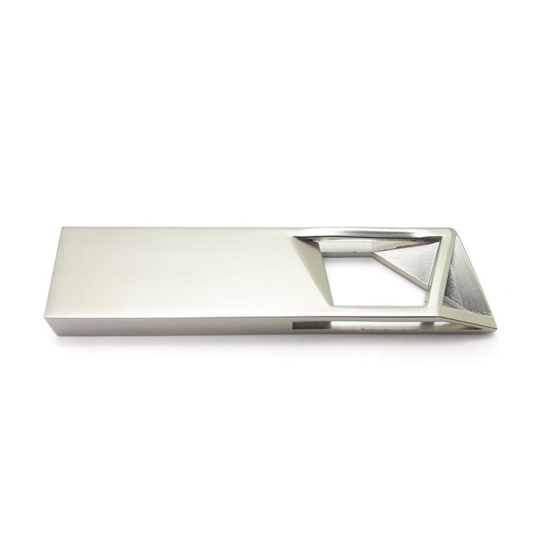 Флешка Геометрия узкая серебро