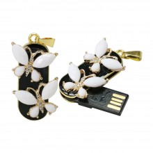 Флешка Подвеска с белыми бабочками 11605