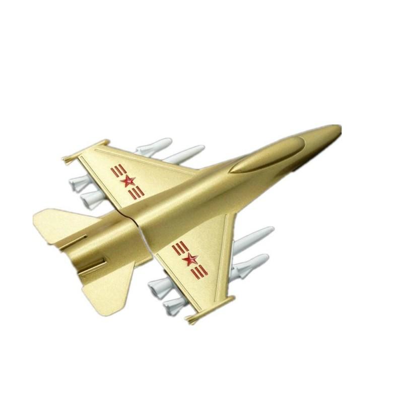 Флешка Самолет-истребитель металл золото