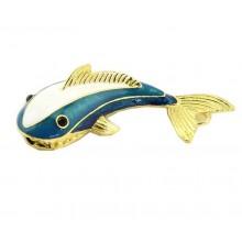 Флешка Дельфин металл голубой