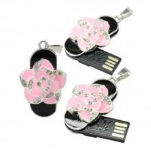 Флешка Подвеска с розовой розой 11620