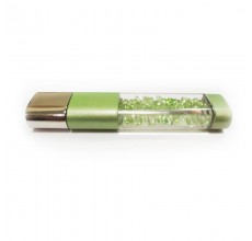 Флешка Crystalline с кристаллами зеленая