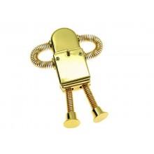 Флешка Робот на пружинках золото