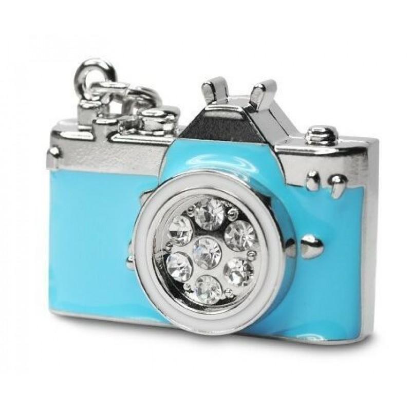 Флешка Фотоаппарат голубой