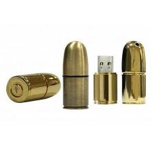 Флешка Патрон пистолетный цвет золото