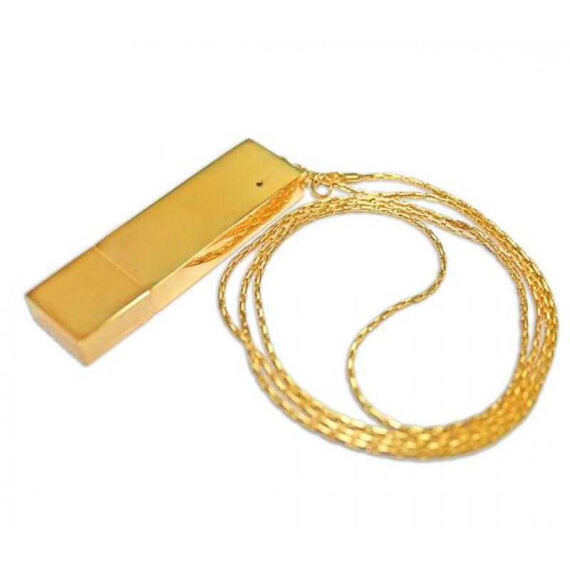 Флешка Подвеска с цепочкой цвет золото