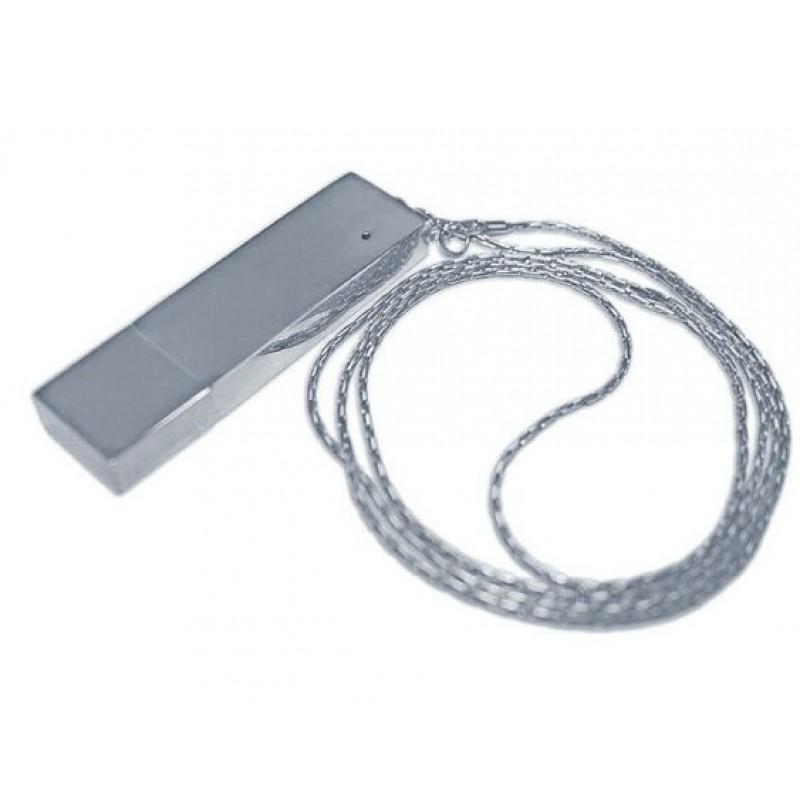 Флешка Подвеска с цепочкой цвет серебро