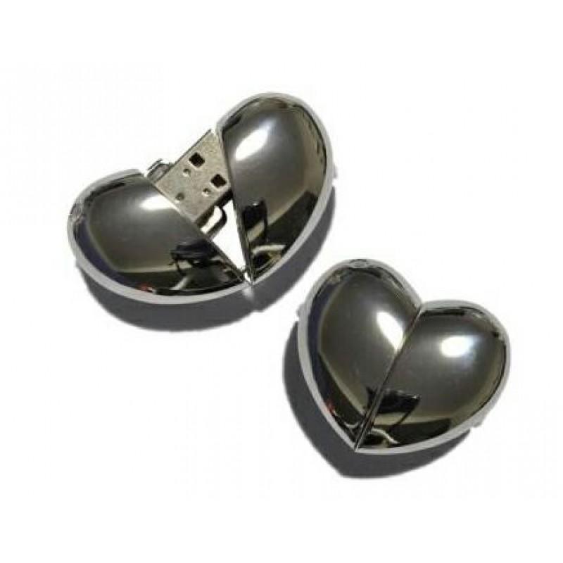 Флешка Сердце 10285 металл