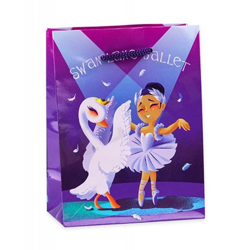 Пакет ПП-4705  Optima подарочный с глянцевой ламинацией 11,5х14,5х6 см (S) Милые балерины