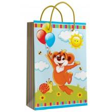 Пакет 11-12-1184 Бумажный ламинированный Детский 16*16*7,6