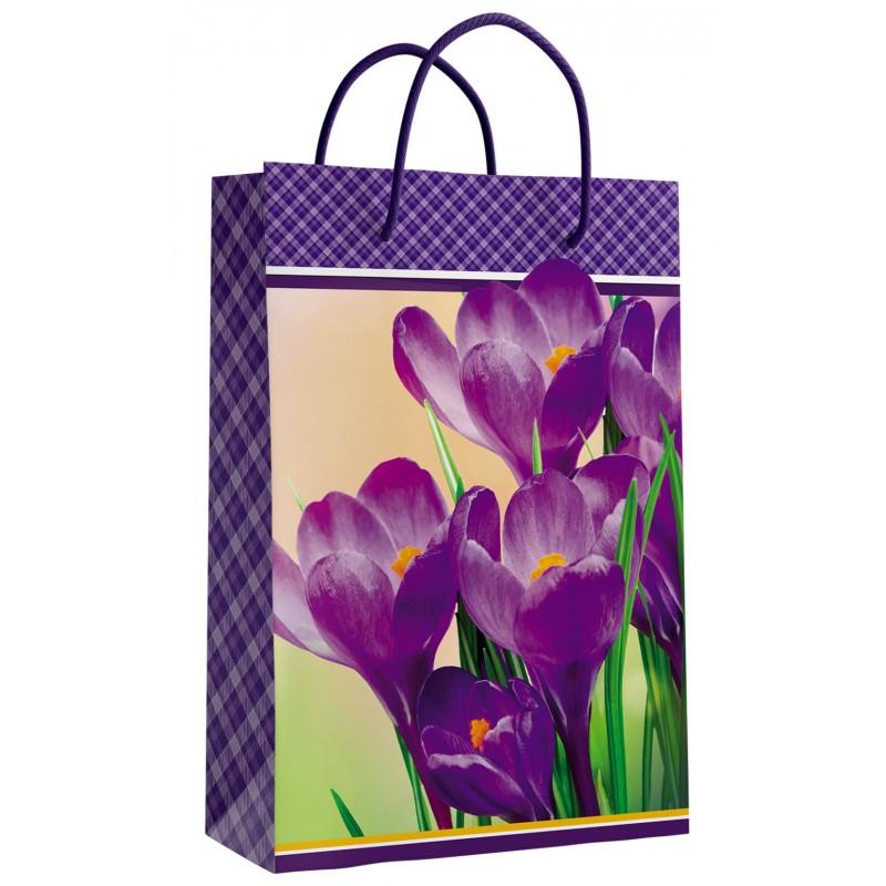Пакет 11-01-1227 Бумажный ламинированный Цветы 17,5*11,5*6