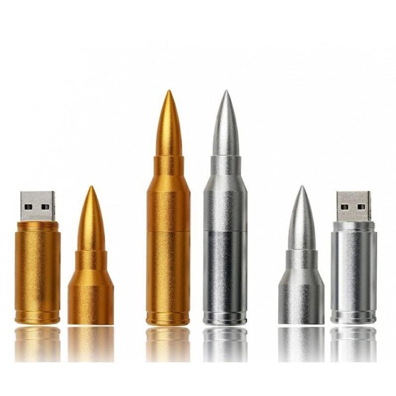 Флешка Патрон АК-47 цвет серебро