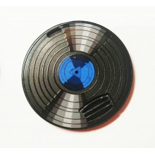 Флешка Грампластинка с синим центром