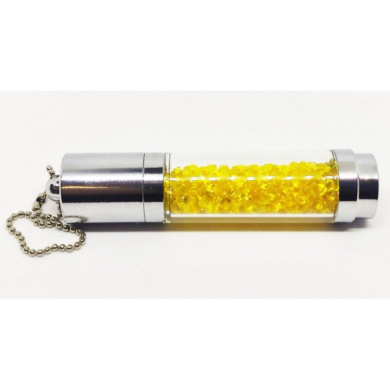 Флешка Колба с желтыми кристаллами