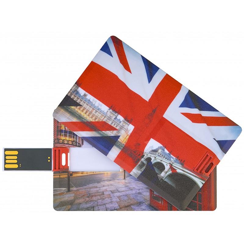 Флешка Британия пластиковая карта