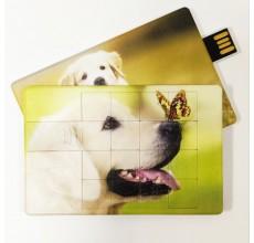 Флешка Собака пазл пластиковая карта