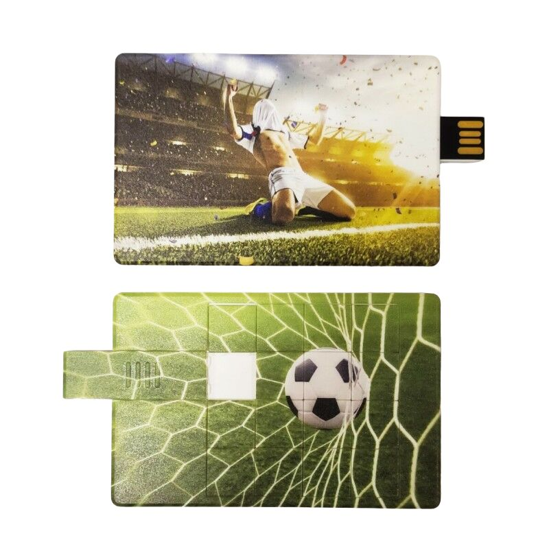 Флешка Футбол пазл пластиковая карта