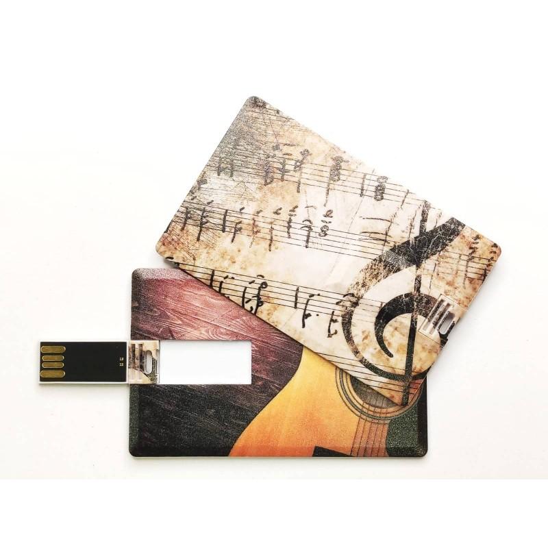 Флешка Гитара пластиковая карта