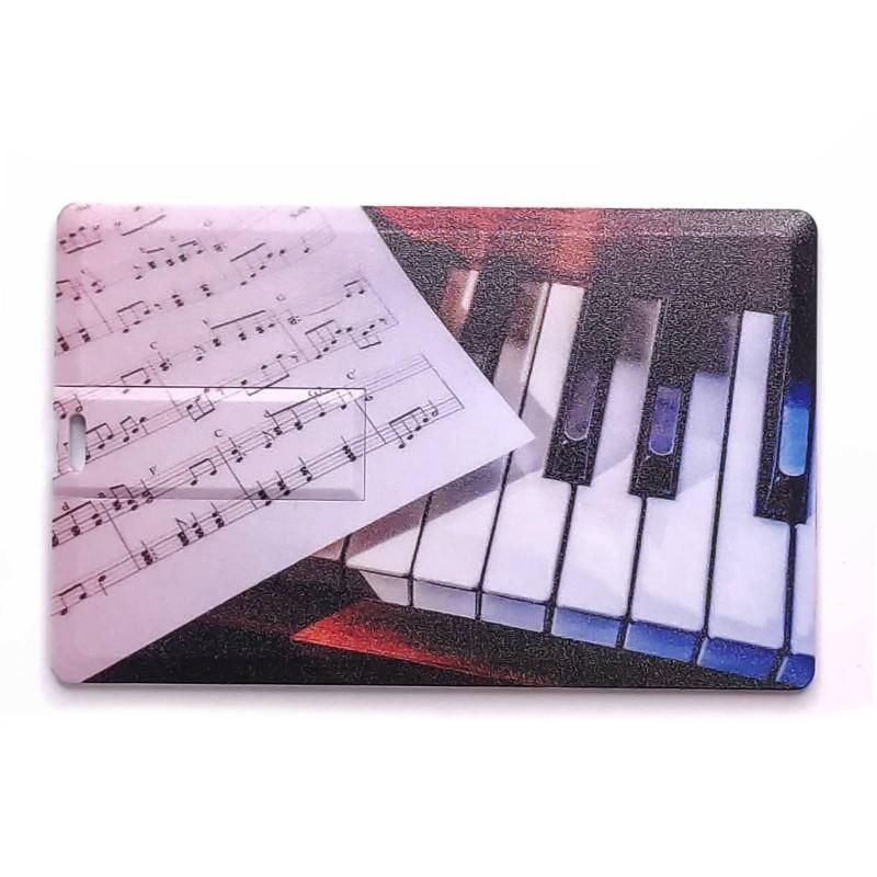 Флешка Фортепиано пластиковая карта