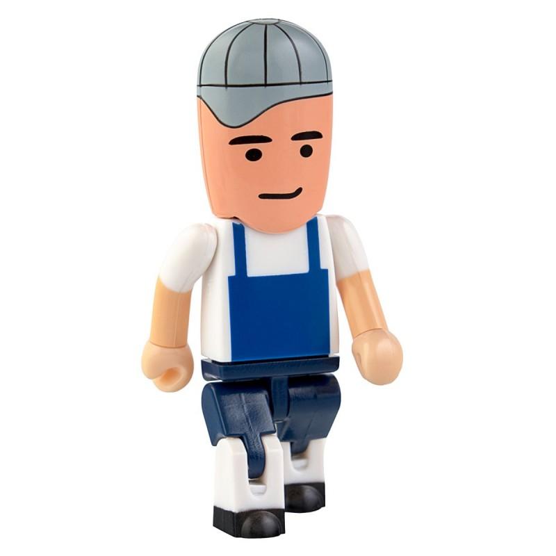 Флешка Профессии - Строитель в серой кепке