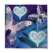 Открытка М-7568сф Мини-открытка, серебряная фольга, 65х65