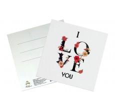 Мини-открытка 95*95 мм. I love you
