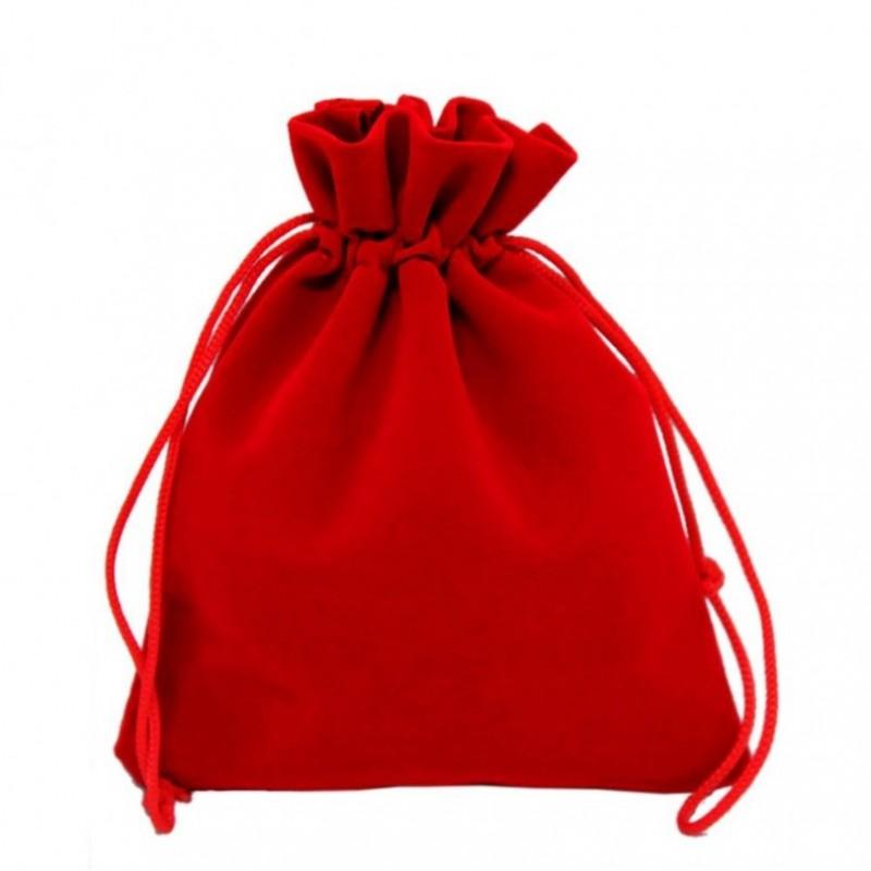 Мешочек бархатный 10*12 красный