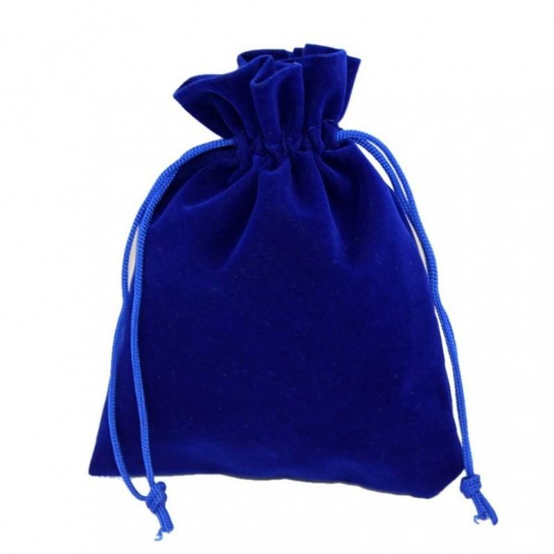 Мешочек бархатный 10*12 синий