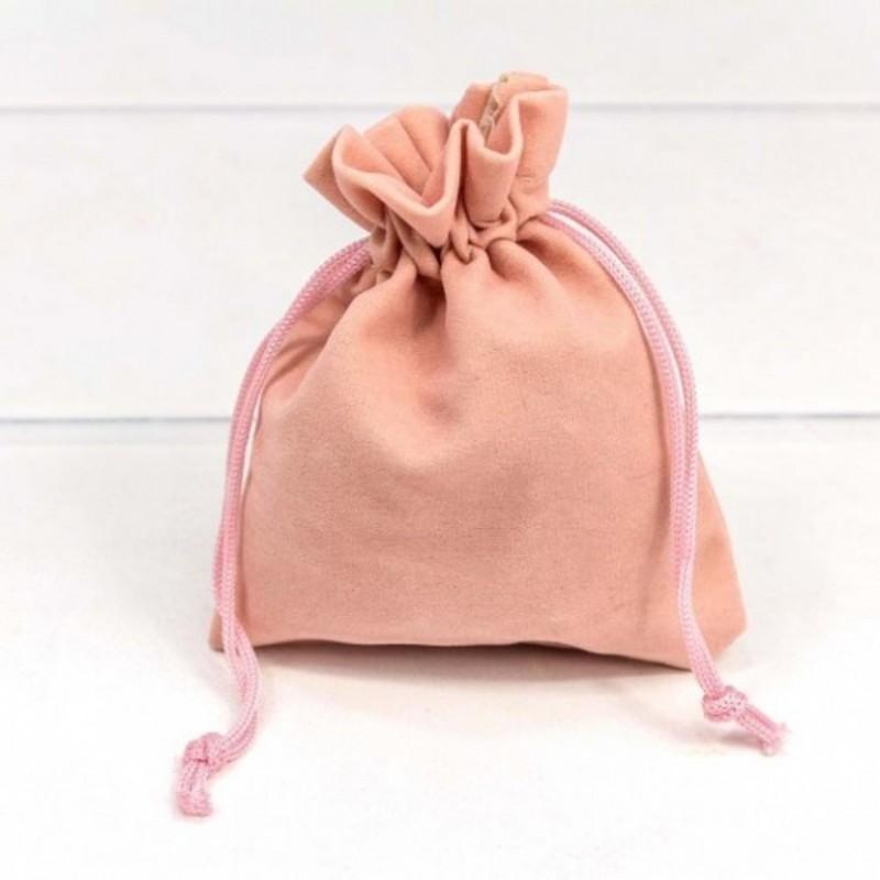 Мешочек бархатный 10*12 розовый